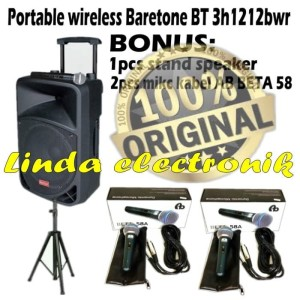 Harga speaker aktif baretone bt 3h 1212 bwr 12 mic pegang bonus   HARGALOKA.COM