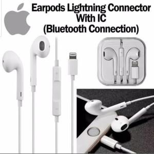 Harga headset heansfree earphone iphone 7 8 x lightning connect | HARGALOKA.COM