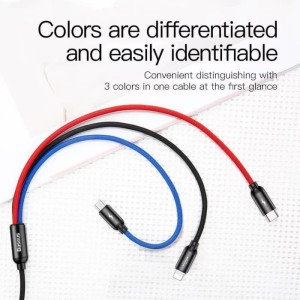 Harga baseus kabel usb 3in1 micro iphone lightning type c charger hp | HARGALOKA.COM