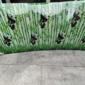 Harga fiber plastik penutup pagar motif bambu panda   HARGALOKA.COM