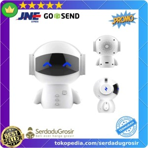 Harga dingdang 2 in 1 speaker bluetooth power bank model robot   m10   HARGALOKA.COM