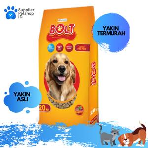 Harga makanan anjing bolt dog 1kg repack segitiga dog food murah promo   HARGALOKA.COM