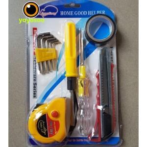 Harga obeng set tools kit kunci l cutter testpen meauring tape | HARGALOKA.COM