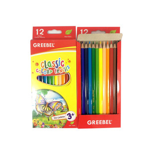 Harga pensil warna color pencil greebel 12 warna classic panjang | HARGALOKA.COM