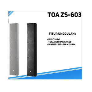 Harga column speaker toa zs 603 zs603 60 watt | HARGALOKA.COM