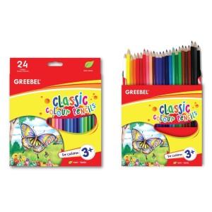 Harga pensil warna color pencil greebel 24 warna classic panjang | HARGALOKA.COM