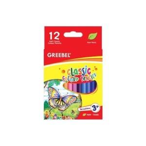 Harga pensil warna color pencil greebel 12 warna classic pendek | HARGALOKA.COM