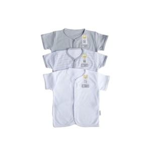 Harga fluffy baju pendek abu isi 3pcs seri abu uk newborn s m l     HARGALOKA.COM