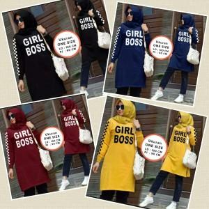 Harga baju muslim wanita girl boss bahan matt baby | HARGALOKA.COM