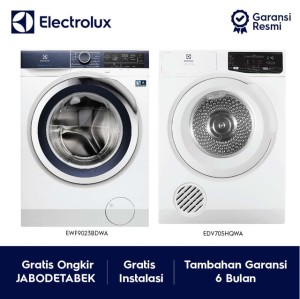 Harga promo electrolux mesin cuci ewf9023bdwa dan dryer | HARGALOKA.COM