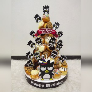 Harga donut mini tower donut mini birthday cake kue ulang   HARGALOKA.COM