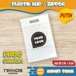 Harga plastik ziplock klip sablon 20x30 6 cm packing baju olshop online shop     HARGALOKA.COM