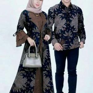 Harga baju gamis couple batik sarimbit m l xl | HARGALOKA.COM