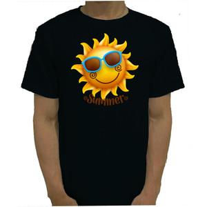 Harga baju kaos tshirt hitam summer catton combed 20s murah   | HARGALOKA.COM