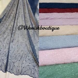 Harga kain tile mutiara dan glitter kain tulle mutiara kain | HARGALOKA.COM