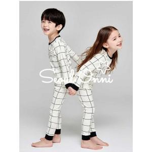 Harga seoul onni korea baju tidur anak bayi setelan piaya   gingham cream     HARGALOKA.COM