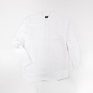 Harga hommes apparel kemeja pria kerah sanghai panjang katun putih premium   | HARGALOKA.COM