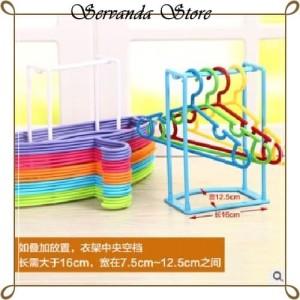 Harga tempat hanger baju penyimpanan rak hanger rapi wadah gantungan susun h   | HARGALOKA.COM