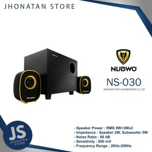 Harga speaker nubwo ns 030 speaker with subwoofer 2 1 | HARGALOKA.COM