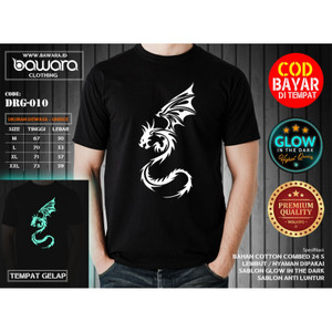 Harga bawara kaos tribal dragon 01 dragon fly glow in the dark   | HARGALOKA.COM