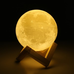 Harga lampu tidur led 3d moonlight 18 cm table rechargeable | HARGALOKA.COM