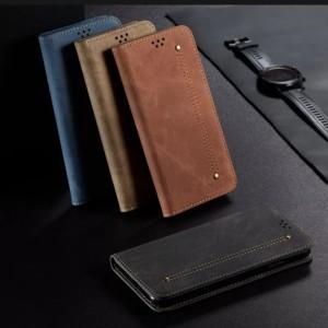 Harga flip vivo y12 y15 y17 original cover case retro jeans kulit | HARGALOKA.COM