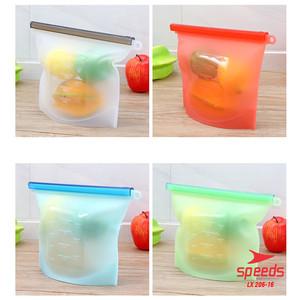 Harga alat dapur silicone zip bag untuk minuman amp makanan food storage 206   hijau 1000 | HARGALOKA.COM