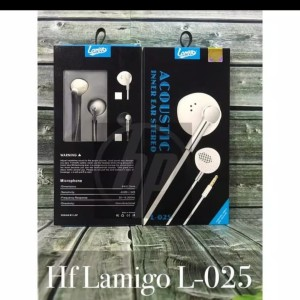 Harga hf headset lamigo acoustic l 25 super bass packing | HARGALOKA.COM