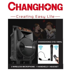 Harga changhong cyd 188hl   portable wireless sound system pa mic | HARGALOKA.COM