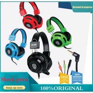 Harga rexus headset gaming wired with mic with retractable dome speakers   | HARGALOKA.COM