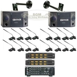 Harga paket sound system conference isi 16 mic wireless ruangan | HARGALOKA.COM