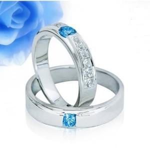 Harga cincin kawin nikah couple emas putih 75 dan platinum 25 req | HARGALOKA.COM