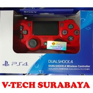 Harga stick stik dualshock 4 ps4 red magma merah segel resmi sony | HARGALOKA.COM