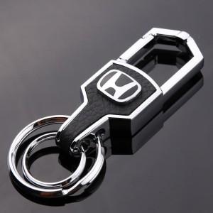 Harga gantungan kunci kulit honda buat mobil dan motor silver | HARGALOKA.COM