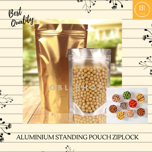 Harga aluminium foil zipper standing pouch kemasan makanan plastik | HARGALOKA.COM