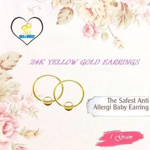 Harga anting emas 24k anting anak 1 gr 99 kado bayi | HARGALOKA.COM