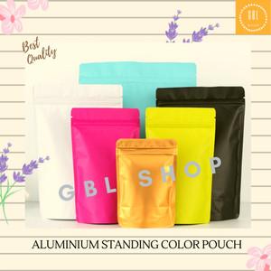 Harga standing pouch zipper aluminium foil kemasan makanan warna matte 10x15   | HARGALOKA.COM