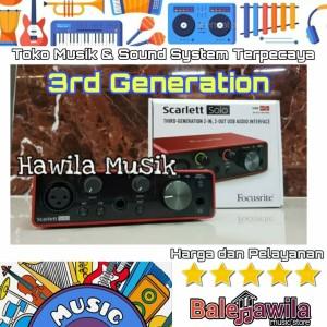 Harga focusrite scarlett solo 3rd gen 1 in 2 out audio | HARGALOKA.COM