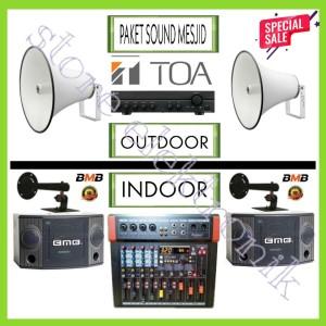 Harga paket sound toa mesjid design baru   mixer   corong   ampli     HARGALOKA.COM