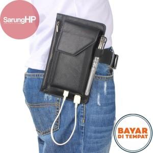 Harga sarung dompet tas tempat hp pinggang kulit 2 hp tanpa magnet 6 inch   | HARGALOKA.COM