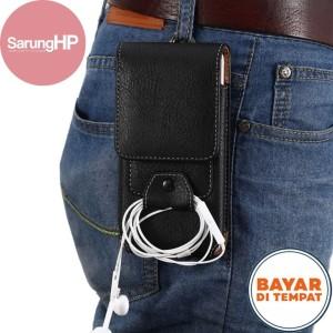 Harga sarung dompet tas tempat hp pinggang kulit tanpa magnet 5 5 inch   | HARGALOKA.COM