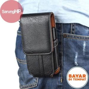 Harga sarung dompet tempat hp pinggang kulit slot kartu carabiner 6 inch   | HARGALOKA.COM