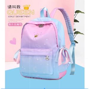 Harga tas ransel sekolah pink wanita cewek perempuan model korea impor murah   | HARGALOKA.COM