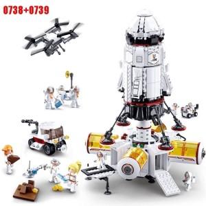 Harga bundling mainan edukatif brick lego sluban space rocket base | HARGALOKA.COM