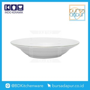 Harga bursa dapur indo keramik gold lining soupplate   piring dalam 8 34   HARGALOKA.COM