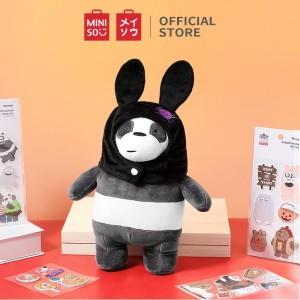 Harga miniso offical we bare bears boneka berdiri mainan mewah plush toy   | HARGALOKA.COM