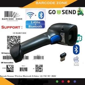Harga wireless bluetooth barcode scanner vsc bt 395s android ios 2 4g   HARGALOKA.COM