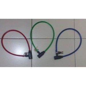 Harga b73 kunci gembok ban sepeda bicycle lock motor murah bonus kunci | HARGALOKA.COM
