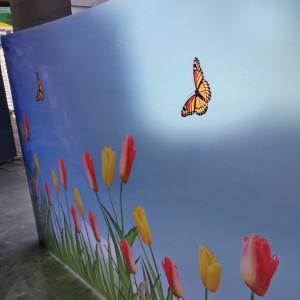 Harga fiber plastik penutup pagar motif tulip   HARGALOKA.COM