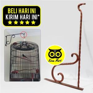 Harga gantungan tempel ulir besi dinding tembok sangkar kandang burung   HARGALOKA.COM